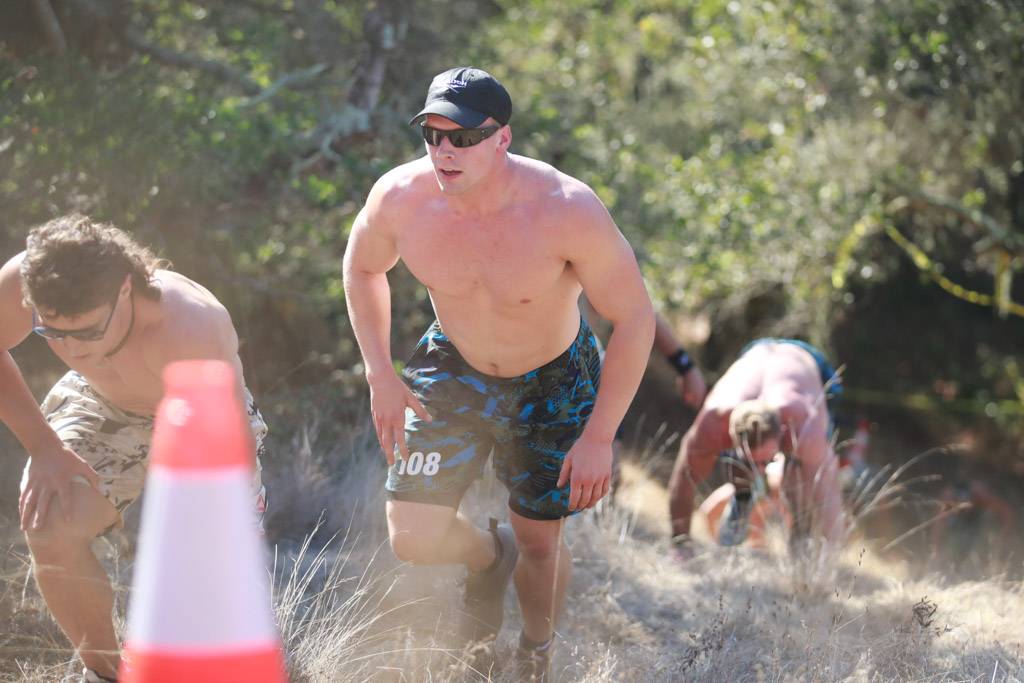 Samuel Kwant trudges uphill at the 2020 CrossFit Games.