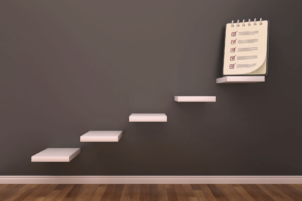 A ladder ascending to a checklist - get it out of your head