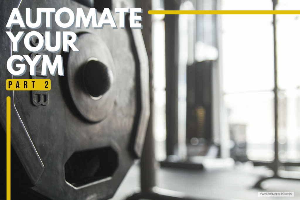 Automate your gym - a weight in a gym